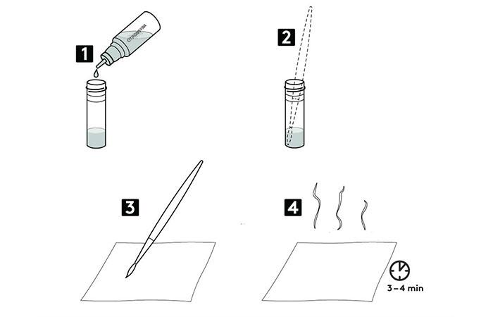 Illustration över vätska som hälls i provrör