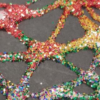 kristall-glitternärbild